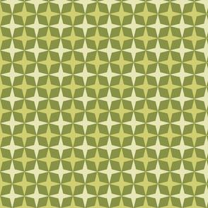 Geometric Pattern: Diamond Star: Olive