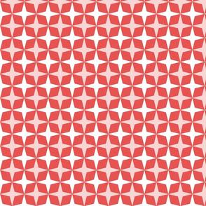 Geometric Pattern: Diamond Star: Light/Red