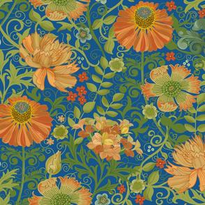 Le Jardin Art Nouveau pacific blue