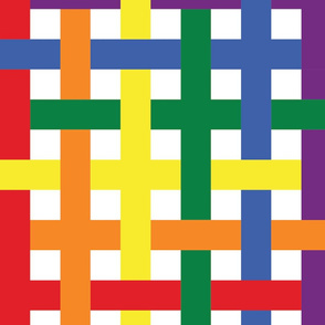 Rainbow Plaid - Extra Large (Rainbow Collection)