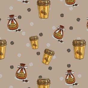 Coffee on Brown