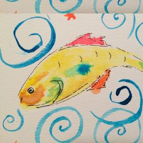 happy yellow fish