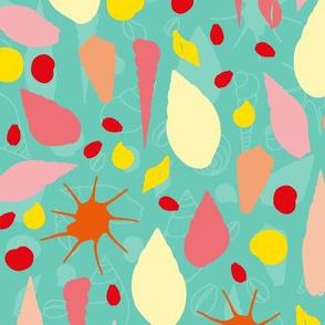 abstract seashells