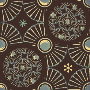 Shells/ Dark Oak Brown