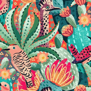 Southwest Blooms and Birds