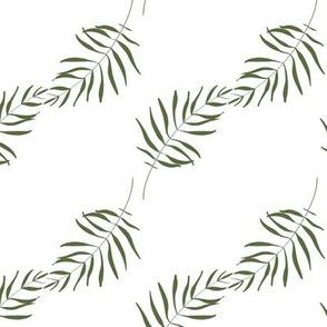 Tropical palm greenery