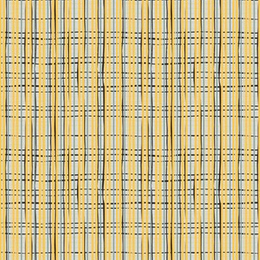 Yellow black and grey basket weave