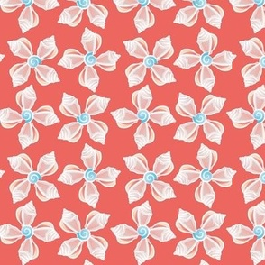 Seashell Flowers coral