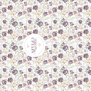 Autumn Meadow Floral Personalized Blanket_spoonflower layout w minis