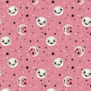 Luna Loves Stars Above on Pink