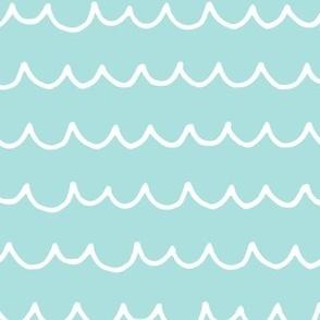 So Wavey - Minty Turquoise, Large scale