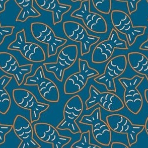 Goldfish blue pattern