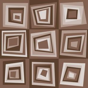 geometric  mid-century brown