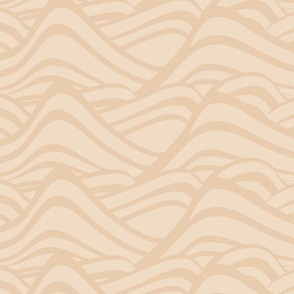 Ocean Waves-Pale Gold-Peony Palette