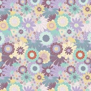 MINI Retro floral pastel tone