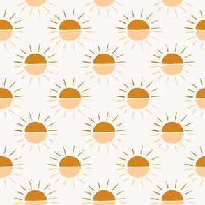 Sunshine with water reflection Golden yellow boho sunset sunrise suns sun bright summer
