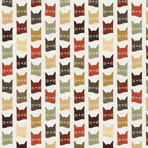 small scale cats - nolan cat roycroft (H) - cats fabric