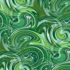 retro psychedelic swirly stripe abstract tropical flora colors green greens