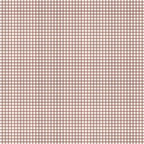 gingham in hazelnut SMALL SCALE