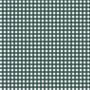 Gingham in dark minty LARGE SCALE