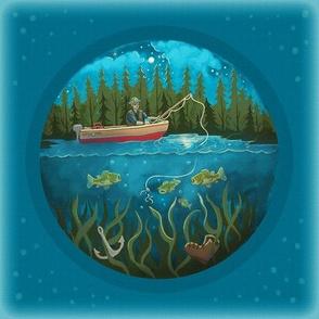 Midnight Bass Fishing by Kim Marshall Studio