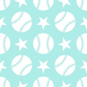 Baseball Softball Stars - Aqua