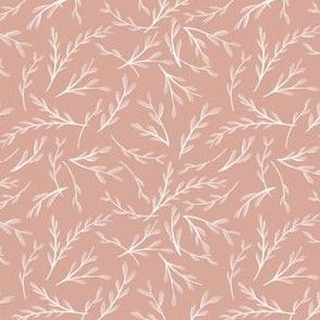 Falling Foliage on Rose Pink