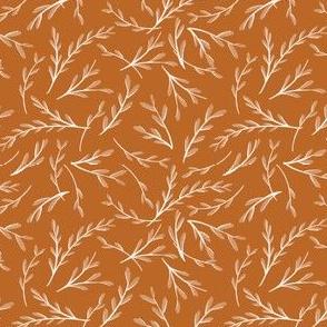 Falling Foliage on Rust