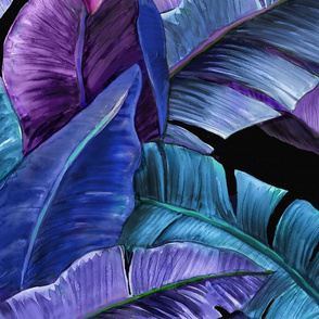 Mystic Tropical Banana Grove-purple-violet