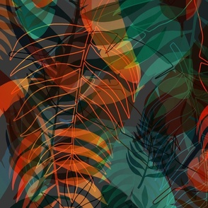 colorful moody tropical flora