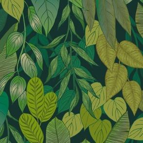 Tropical Garden {Green} large