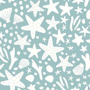 Starfish in Foggy Blue