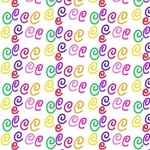 Curly Swirly!  Rainbow #2, medium