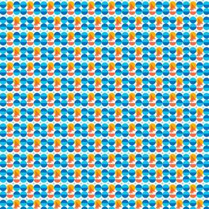 Orange boats blue summer