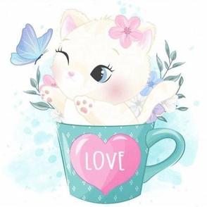 Cat in the mug