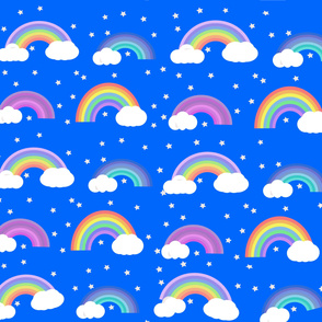 Colourful Rainbows and Stars
