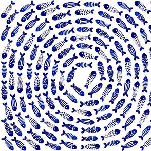 blue fish vortex