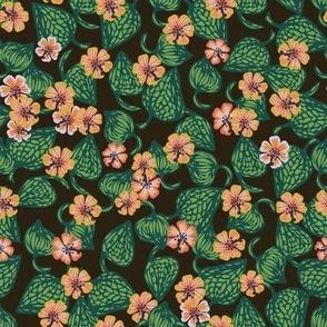 moody tropical blooms by rysunki_malunki