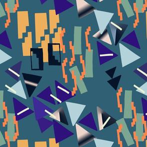 Geometric weave/ blue