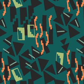 Geometric weave/ green