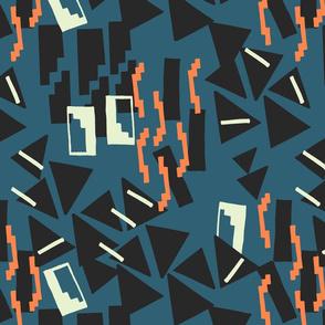 Geometric weave/ orange