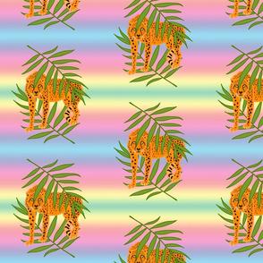 Cheetah Jungle Camouflage - rainbow, medium
