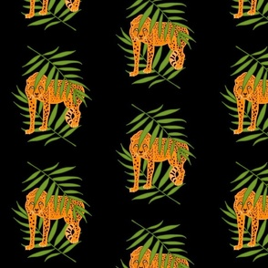 Cheetah Jungle Camouflage - black, medium