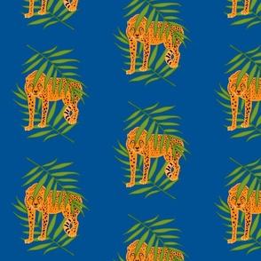 Cheetah Jungle Camouflage - ocean blue, medium