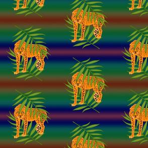 Cheetah Jungle Camouflage - moonlight rainbow, medium