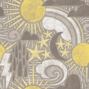 Wacky Weather Sun Wind Storm & Stars