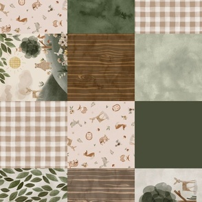 Beige Woodsy Quilt (no words) rotated