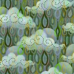 Rain clouds in Minted Sage