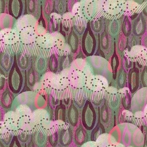 Rain clouds in Magenta