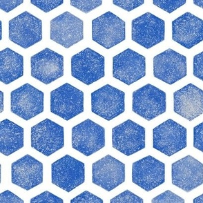 blue textured small hex